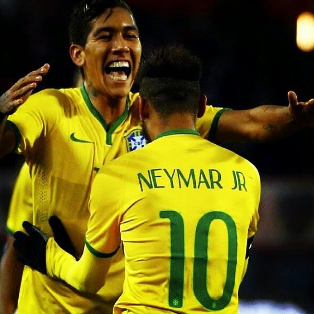 Neymar JR Austria Vs Brazil 2014