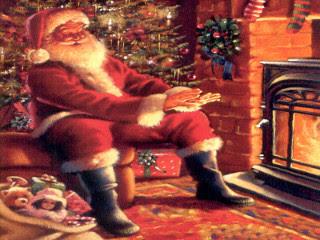 Božićne slike čestitke djed Mraz download