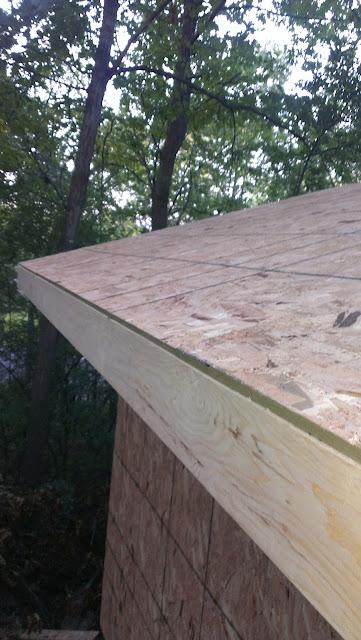 Roof sheathing flush with fascia.
