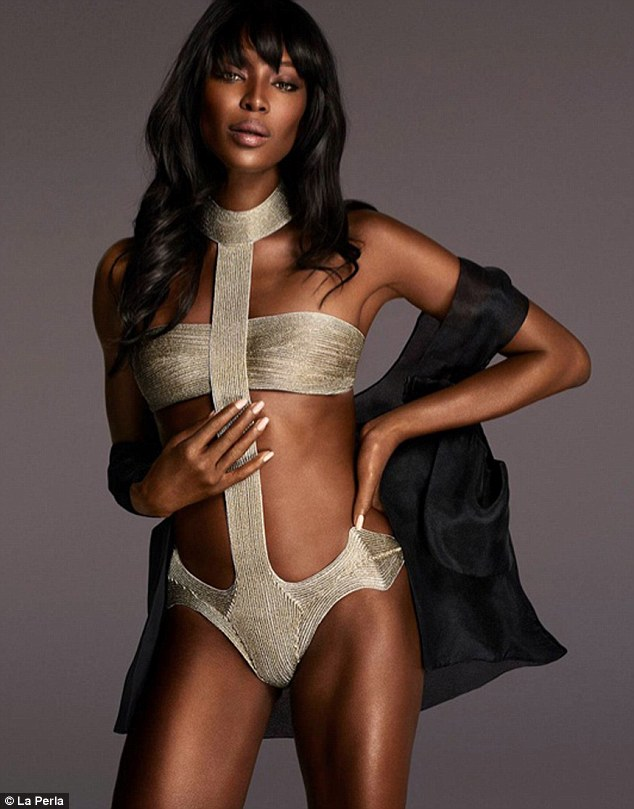 Still Beautiful At 45! Naomi Campbell Is All Shades Of Sexy For A Lingerie Campaign