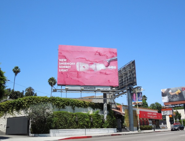 Pink Smirnoff Sorbet Light Vodka billboard