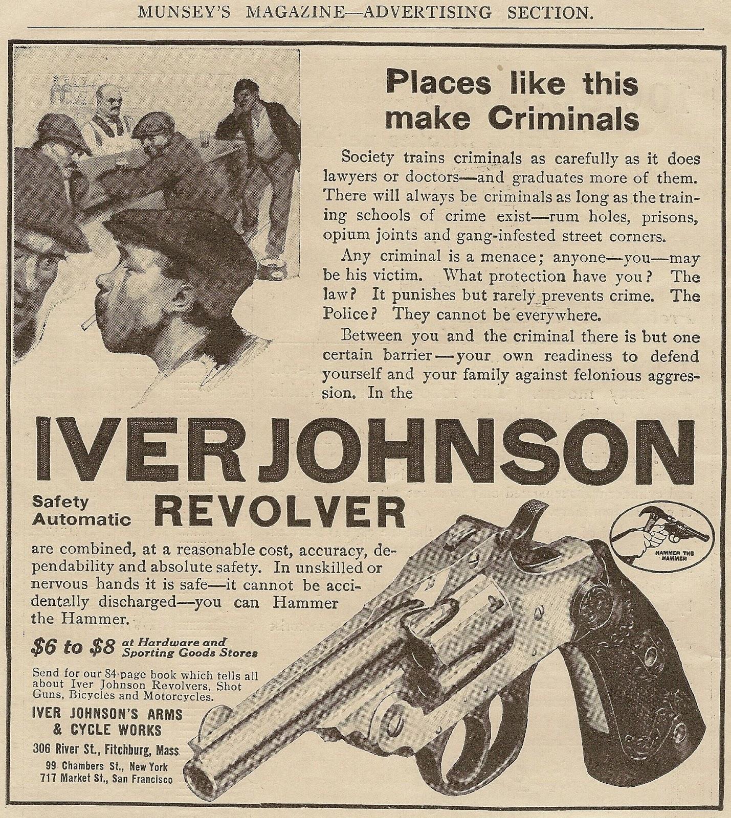 Vintage Iver Johnson Ad From MUNSEY 'S MAGAZINE