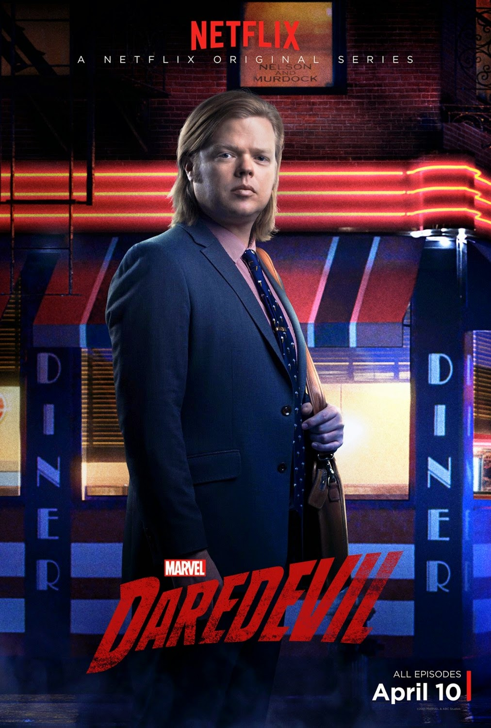 Marvel's Daredevil Character Television Poster Set - Elden Henson as Foggy Nelson