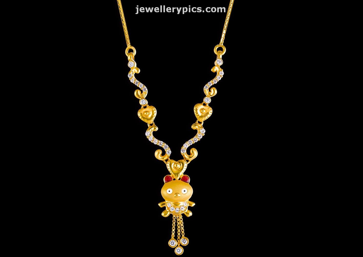 kids gold jewellery by Kalyan jewellers Bloom collection Latest