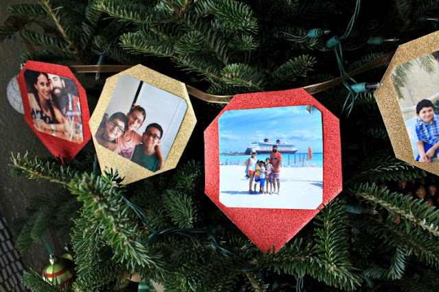 DIY Christmas Tree Photo Garland #SaveYourMemories #ad
