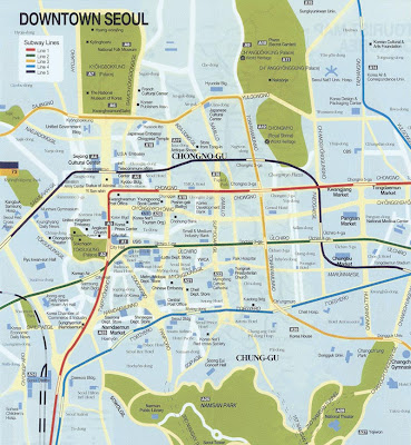 Map of Seoul downtown