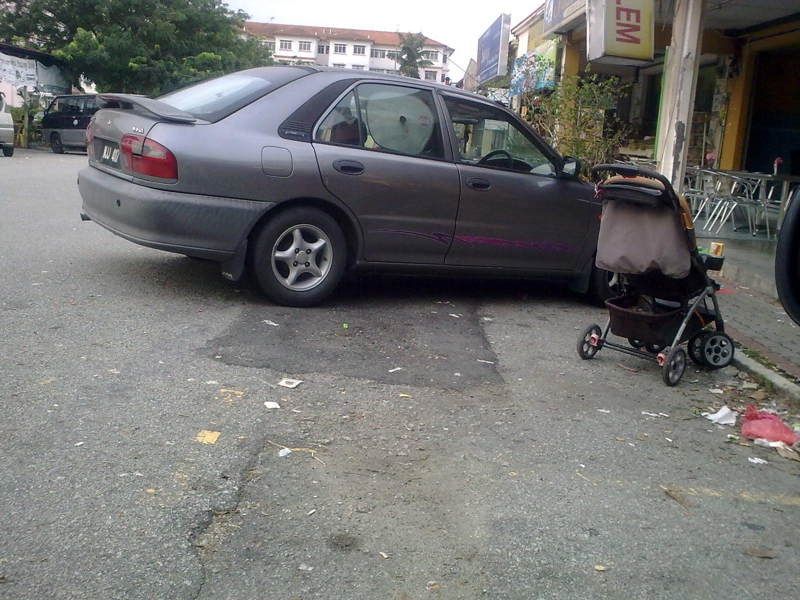Patutlah lot parking penuh!