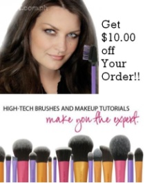 Get $10 off Your Real Techniques brushes!!