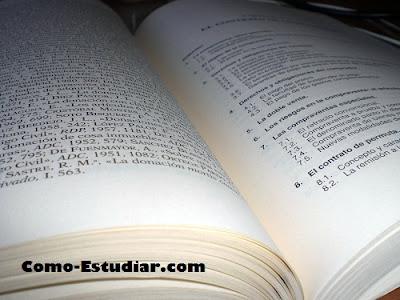 COMO ESTUDIAR: Estudiar directamente del libro. Técnicas de estudio