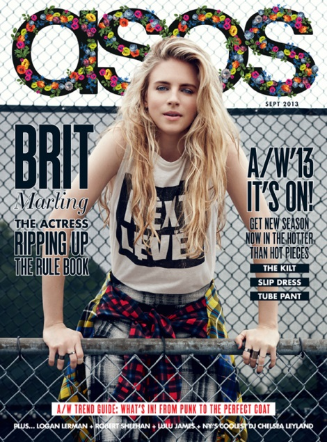 Brit Marling ASOS Magazine Cover