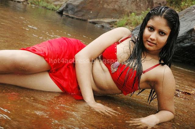 Amrutha valli ever hot red bikini