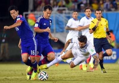 Babak Pertama, Jepang vs Yunani 0-0