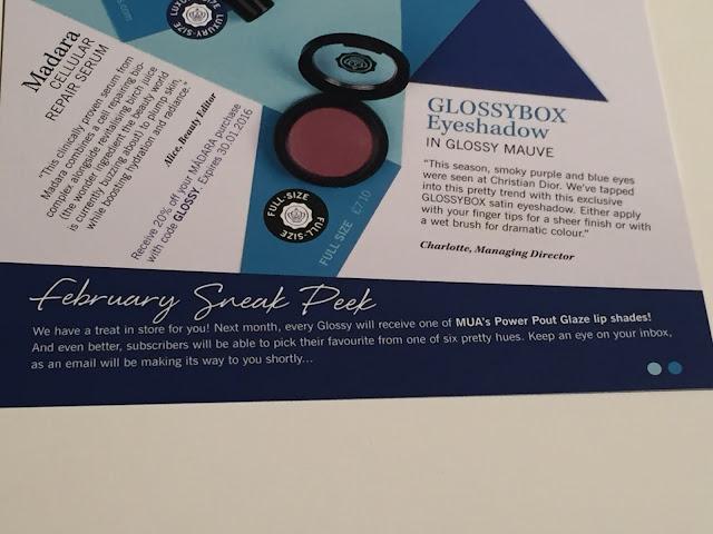 glossybox january 2016