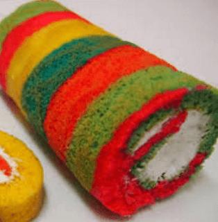 Resipi Rainbow Cake Lembut dan enak Tutorial Simple