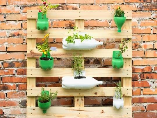 DIY Decoração Jardins e hortas de pallets