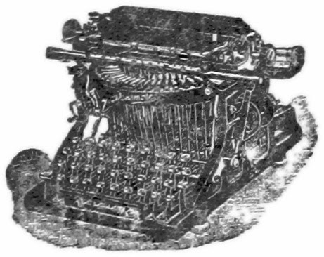 Engraving of old typrewriter