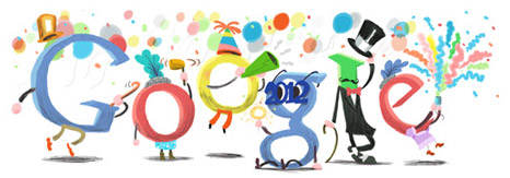 Google Doodle &#8211; Happy New Year! 2012