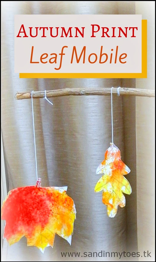 busy hands  autumn print leaf mobile