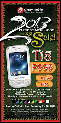 Cherry Mobile T18 TV Phone Chinese New Year Sale!