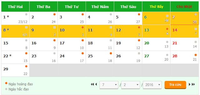 Lịch nghỉ tết 2016 - Tết 2016 được nghỉ mấy ngày