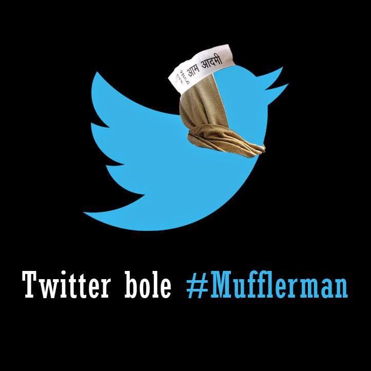 twitter mufflerman arvind kejriwal