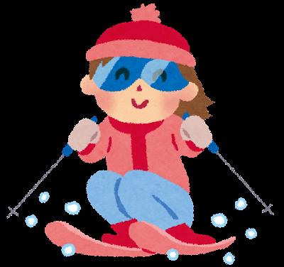 スキーのイラスト「女の子」