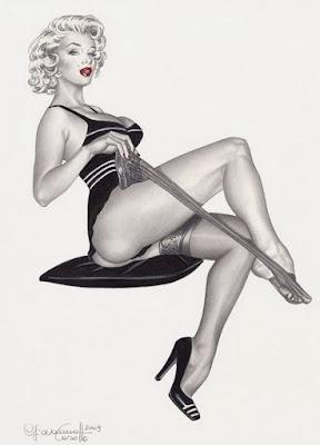 Ilustracion Erotica de Marilyn Monroe