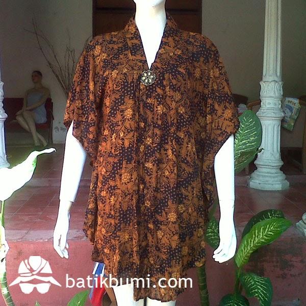 blouse batik lengan kelelawar