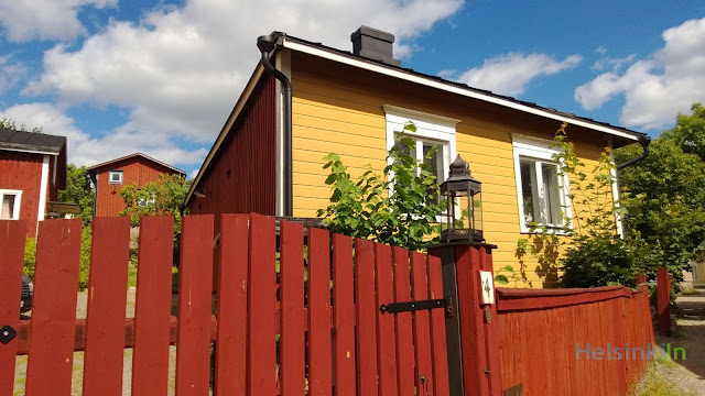 wooden house in the old town of Porvoo