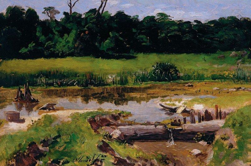 Paisagem Fluvial por José Ferraz de Almeida Júnior, 1899