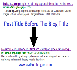 Blogging Tips For Post Title Before The Homepage Title