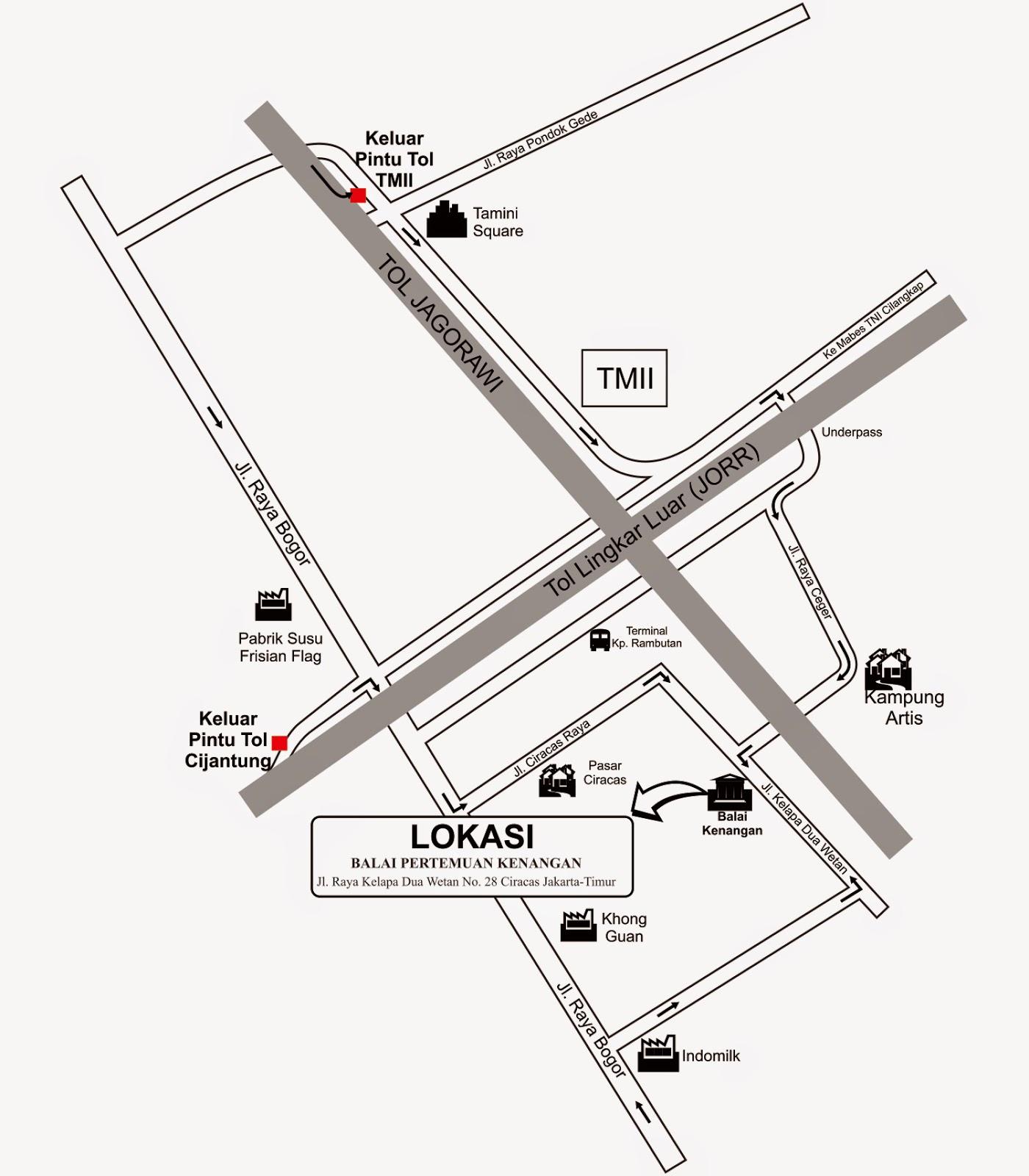 Denah Gedung Balai Pertemuan Kenangan Jakarta