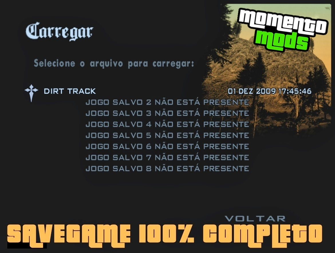 GTA SA - Save Game 100% Completo