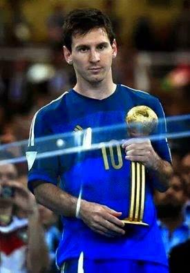 ليونيل ميسي يتوج بجائزة أفضل لاعب في المونديال