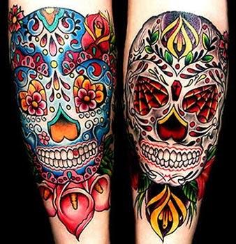 Significado das tatuagens de caveiras mexicanas