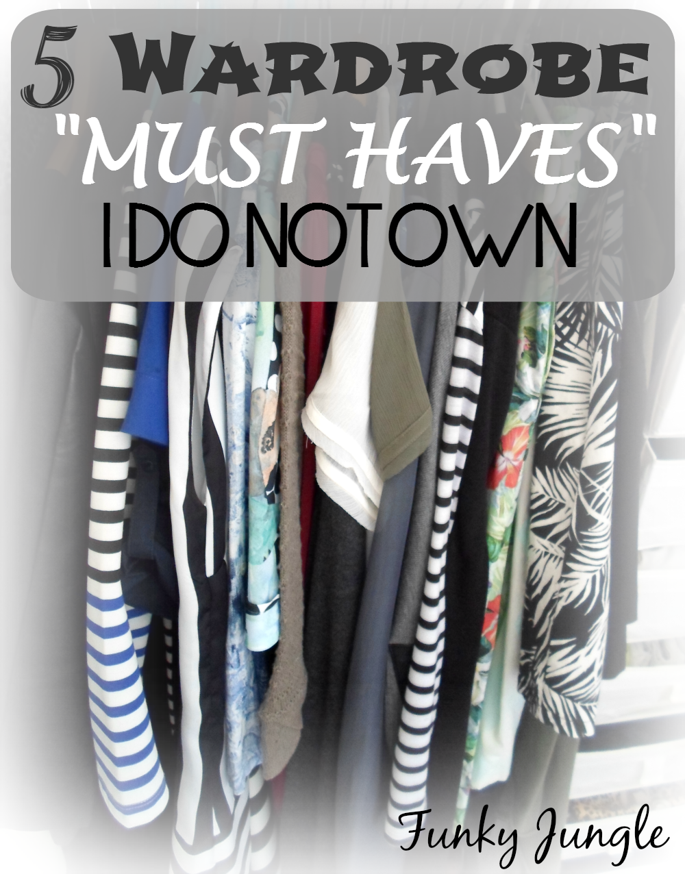 "There's no such thing as an universal ""must have when it comes to personal style - 5 Fashion Must Haves I Do Not Own - The Closet Conundrum VIII 