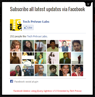 Facebook Likebox Extended Black