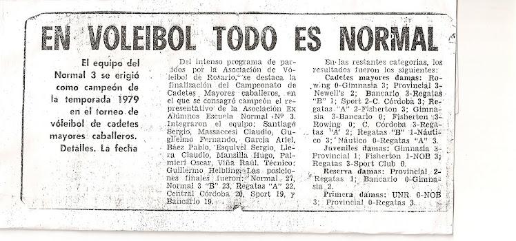 RECORTE DIARIO LA CAPITAL 1979