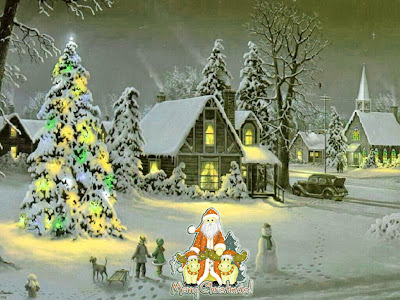 Picture of Merry Christmas wishing Santa Claus