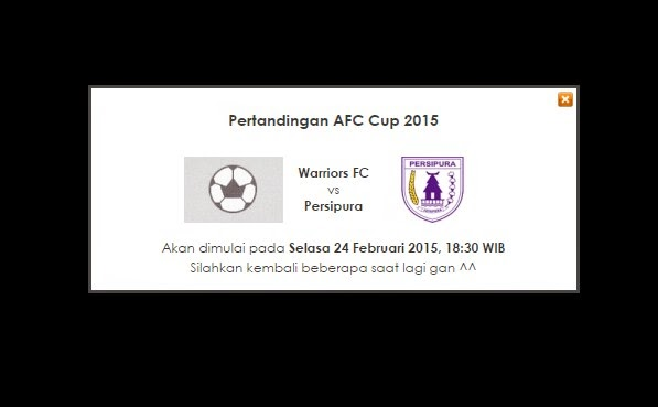 Jadwal Persipura vs Warriors FC Live streaming AFC CUP 2015