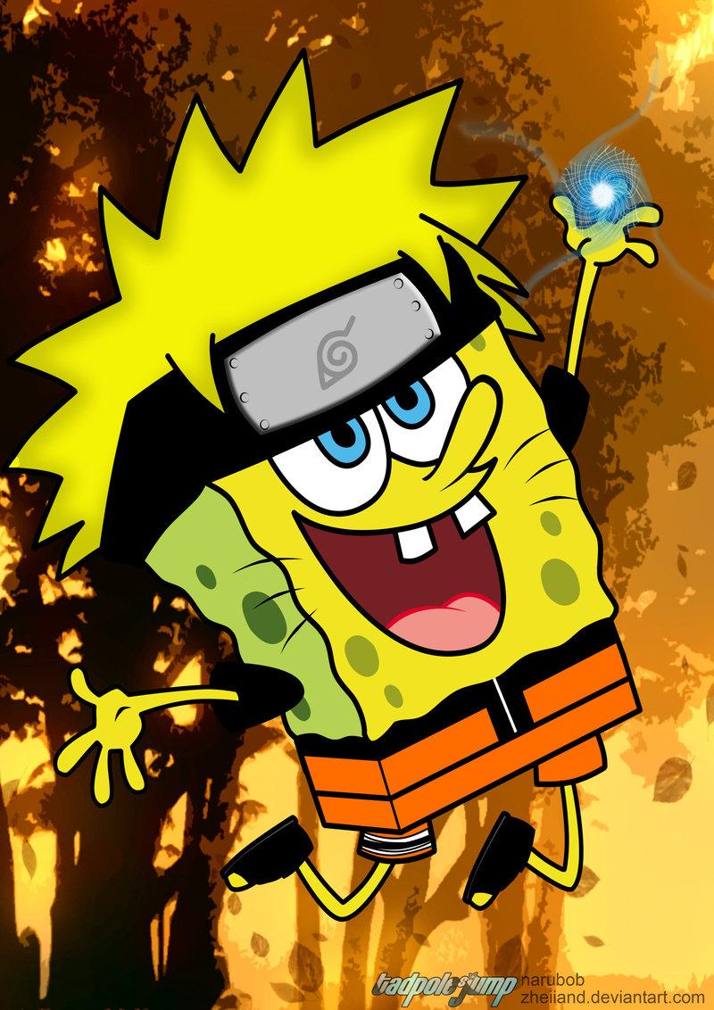 spongebob squarepants naruto - cartoon |images-wallpaper-videos
