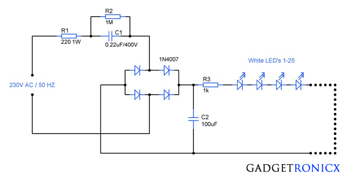 230V-AC-Mains-operated-led-lighting-circuit-diagram