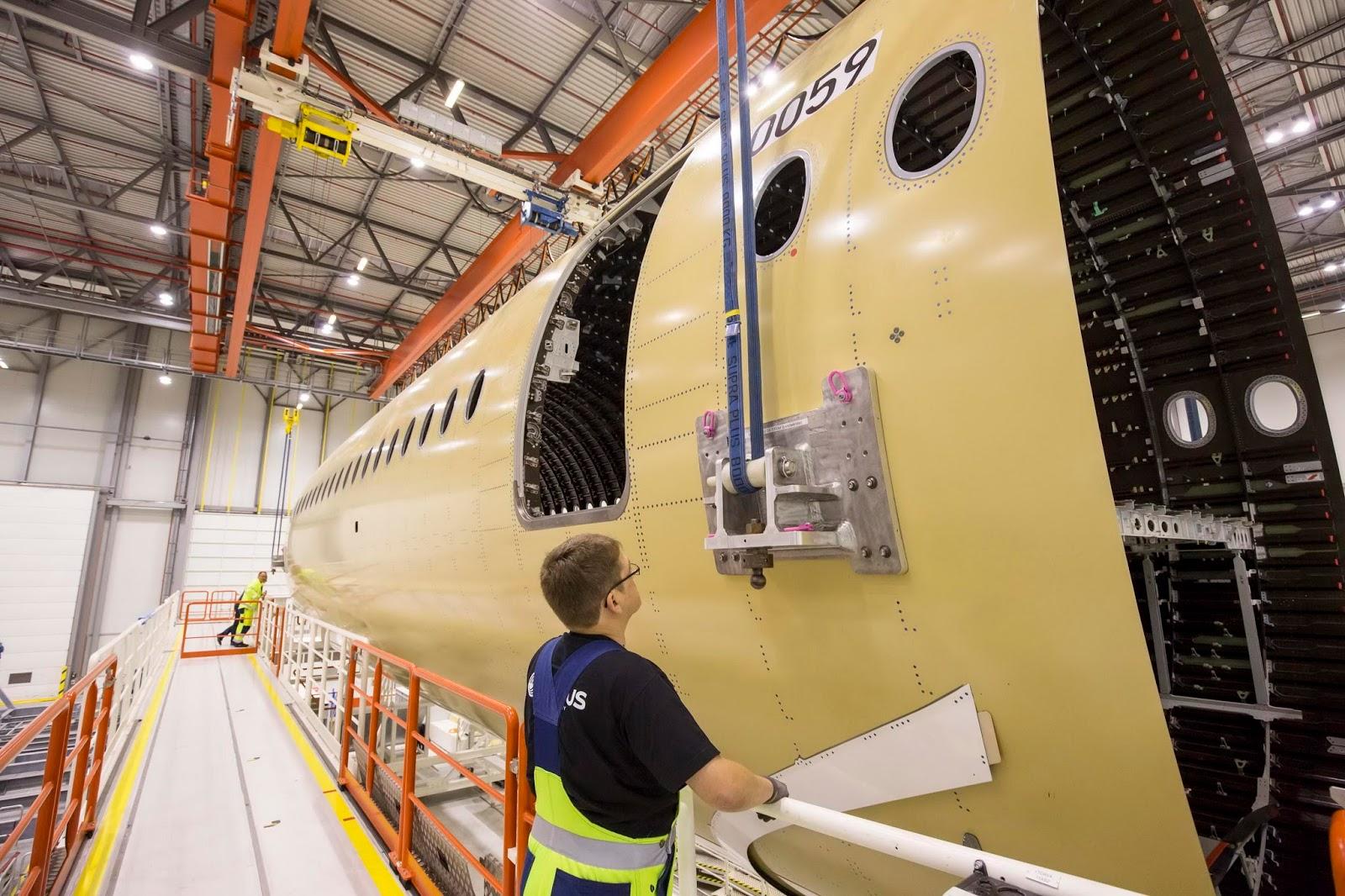 É MAIS QUE VOAR | Airbus inicia montagem do primeiro A350-1000