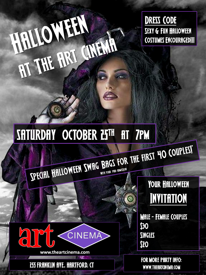 Attention Hartford! The Art Cinema Halloween Party!