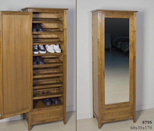 Muebles zapatero de anta o for Armario alto zapatero con espejo