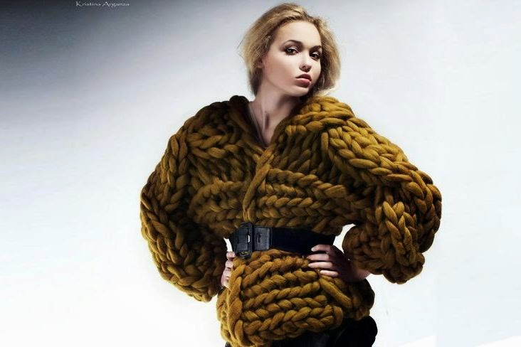Вязание очень толстыми нитками 160