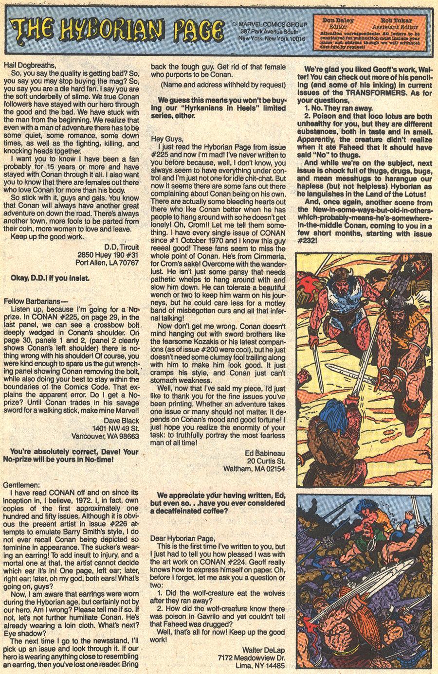 Conan the Barbarian (1970) Issue #229 #241 - English 25