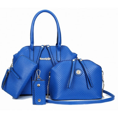 AA FASHION BAG ( 4 IN 1 SET) (BLUE)