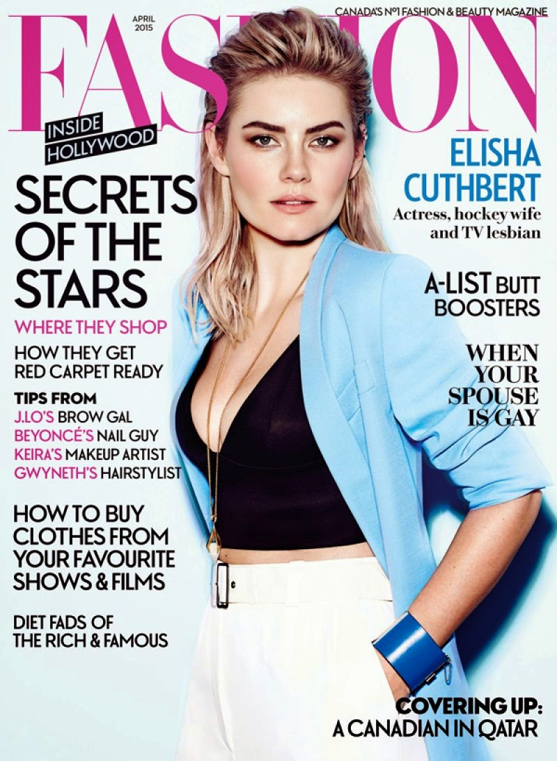 Actress, Model @ Elisha Cuthbert - Fashion Magazine, April 2015