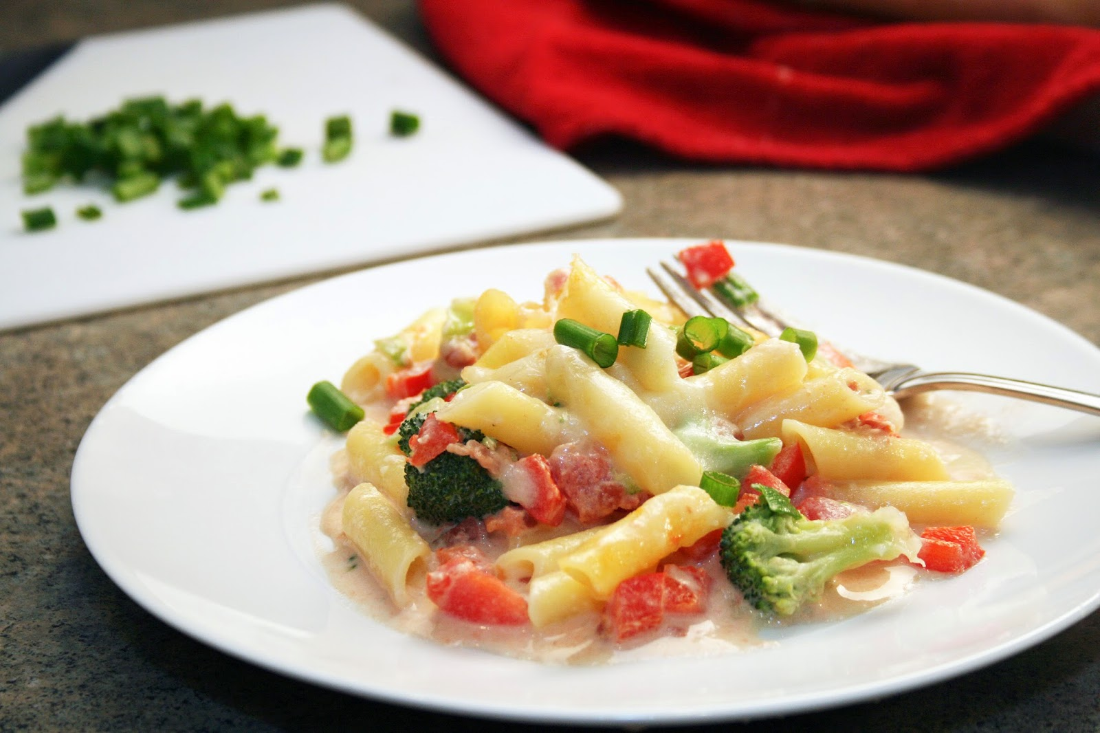 Veggie Alfredo Pasta